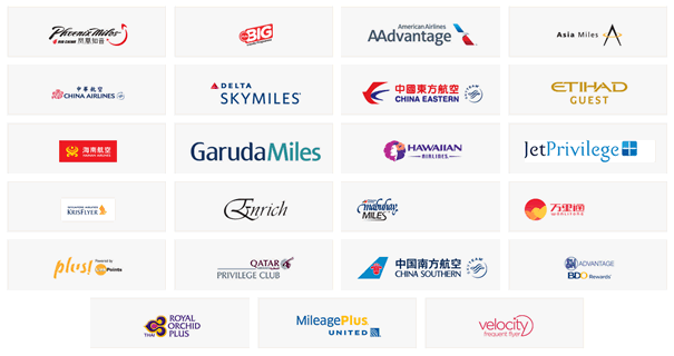 ポイントマックスの提携航空会社